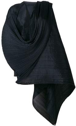 Pleats Please Issey Miyake oversized pleated scarf