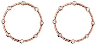 Lee Jones Collection Diamond Stones Eternity Stud Earrings - Rose gold