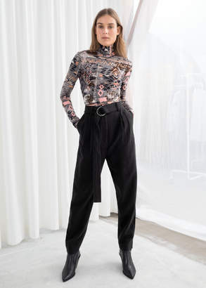 And other stories Belted Tapered Trousers