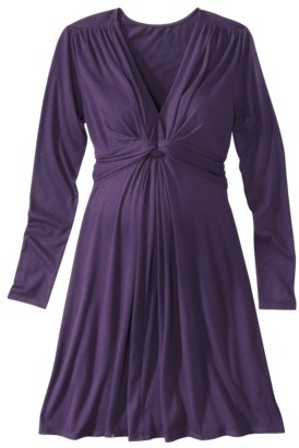 Merona Maternity Long-Sleeve Knot-Front Fashion Knit Dress - Assorted Colors