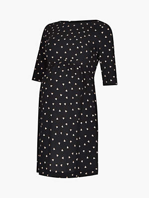 Séraphine Minnie Dots Maternity Dress, Black