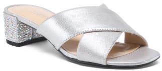 Cross Strap Block Heel Sandals