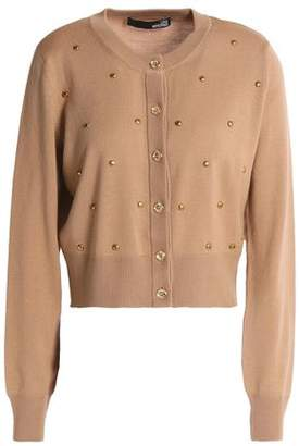 Love Moschino Studded Wool Cardigan