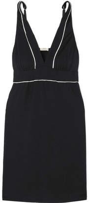 Eberjey Gisele Stretch-modal Jersey Chemise - Black