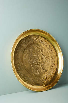 Anthropologie Hand-Engraved Metal Tray