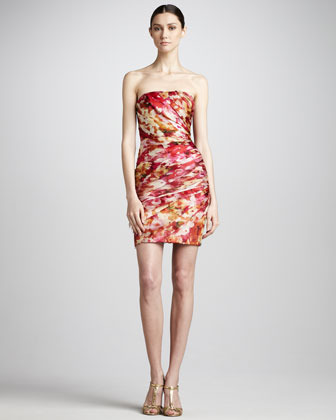 Theia Printed Cocktail Dress