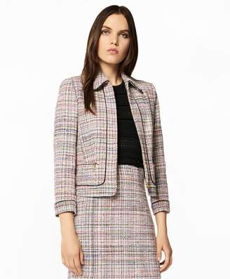 Brooks Brothers Tweed Zip-Front Jacket