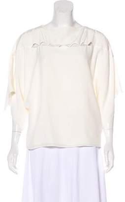 Chloé Cutout Short Sleeve Top