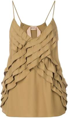No.21 ruffled strappy blouse