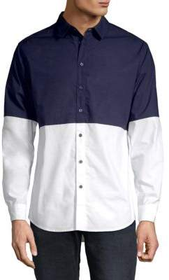 Colorblock Woven Shirt