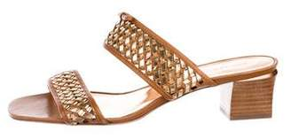 Marc by Marc Jacobs Woven Leather Slide Sandals