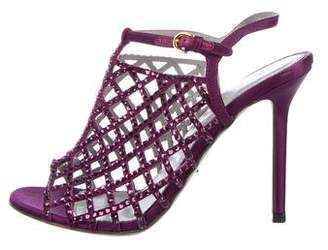 Sergio Rossi Embellished Caged Sandals