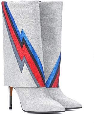 Balmain Demi glittered ankle boots