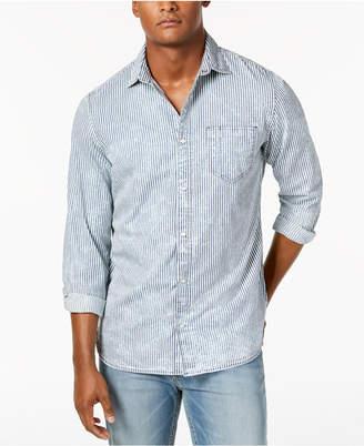 Calvin Klein Jeans Men's Dobby Striped Shirt