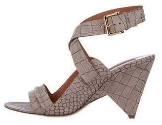 Derek Lam Embossed Suede Sandals