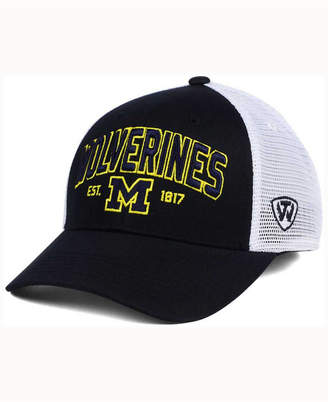 Top of the World Michigan Wolverines Black Mesh Teamwork Snapback Cap