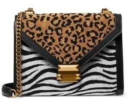 MICHAEL Michael Kors Mini Whitney Animal-Print Leather Crossbody Bag