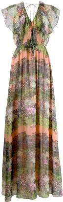 AILANTO floral print maxi dress
