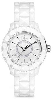 Dior Dior VIII Diamond & White Ceramic Bracelet Watch