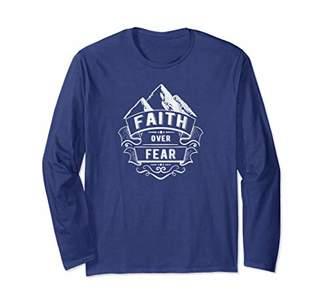 Unisex Faith Over Fear Men Women Christian Long Sleeve T Shirt 2XL