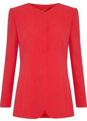 Giorgio Armani Pleated Silk-Crepe Jacket