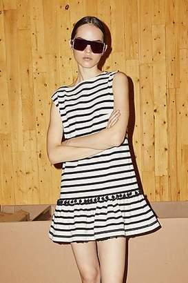 CONTEMPORARY Striped Pompom Dress