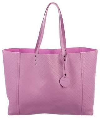 Bottega Veneta Leather Intreccio-Mirage Tote
