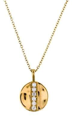 Ippolita 18K Diamond Senso Mini Disc Pendant Necklace