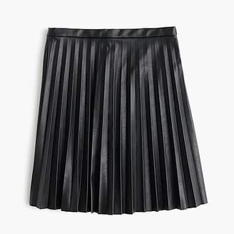 J.Crew Faux-leather pleated mini skirt