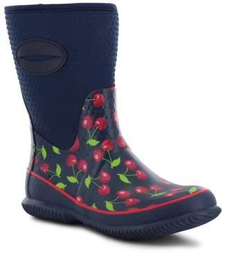 Western Chief Retro Cherry Neoprene Rain Boot