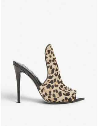 Steve Madden Sinful high-vamp leopard-print ponyhair mules