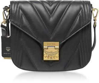 MCM Black Quilted Leather Patricia Shoulder Bag