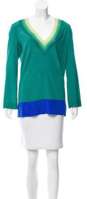 Missoni Colorblock V-Neck Top