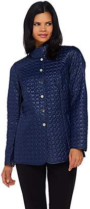 Dennis Basso Water Resistant Quilted Jacket with Welt Pockets