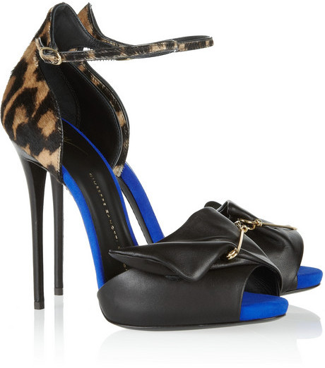 Giuseppe Zanotti Coline leopard-print calf hair and leather pumps