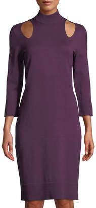 Love Scarlett Mock-Neck Cutout Sweater Dress