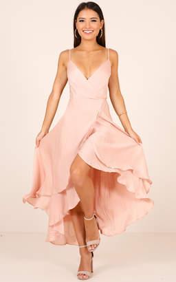 Showpo Bad Liar Dress In Blush Satin - 8 (S) Formal Outfits