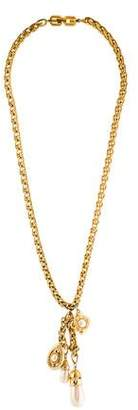 Givenchy Faux Pearl & Crystal Lavalier Necklace