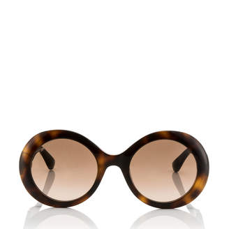 Jimmy Choo WENDY/S 51 Havana Round Sunglasses with Lurex Detailing