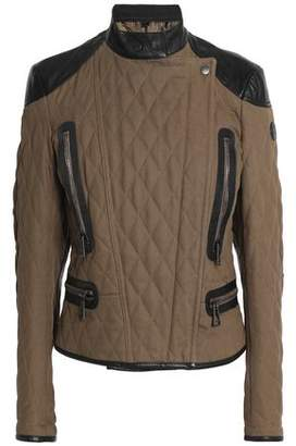 Belstaff Leather-Trimmed Quilted Cotton Jacket