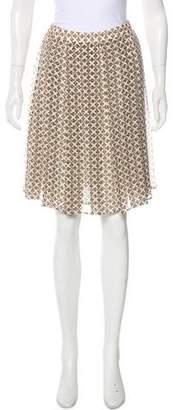 Tory Burch Silk Pleated Skirt
