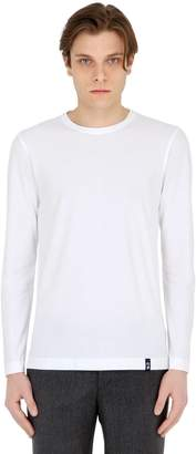 Drumohr Cotton Crepe Jersey Long Sleeve T-Shirt