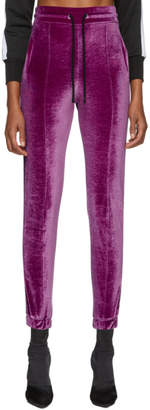 Marcelo Burlon County of Milan Purple Logo Tape Lounge Pants