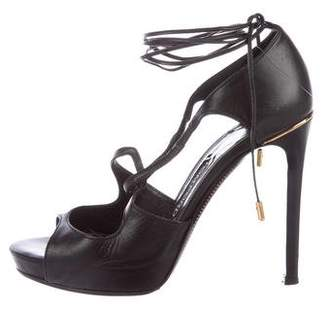 Tom Ford Leather Wrap-Around Sandals
