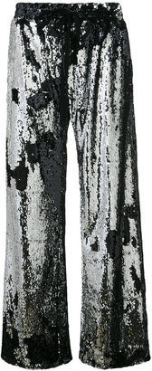 Milly sequinned palazzo pants