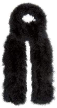 Yves Salomon Long Feather Scarf - Womens - Black