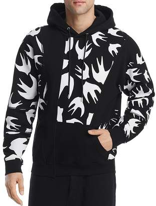McQ Blocked Swallow Pullover Hoodie