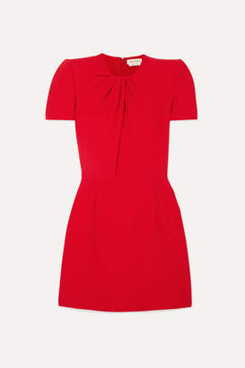 Alexander McQueen Ruched Crepe Mini Dress - Red