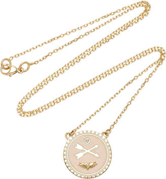 Foundrae Passion 18K Gold Champleve Enamel And Diamond Necklace