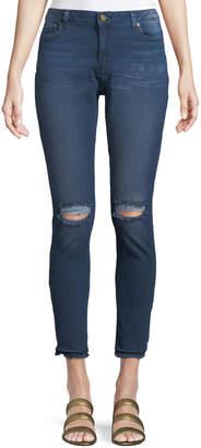 MICHAEL Michael Kors Slash Undone-Hem Skinny Jeans